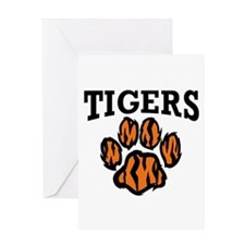 TIGERS PAW Greeting Cards