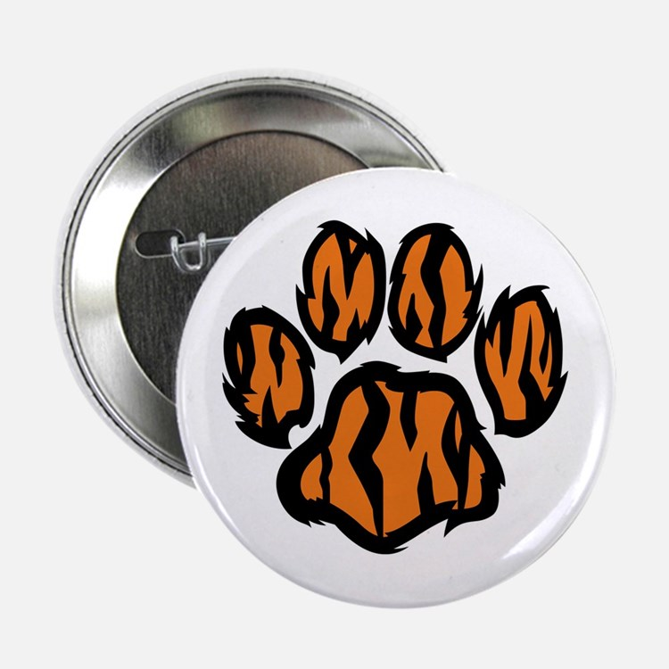 "TIGER PAW PRINT 2.25"" Button (10 pack)"