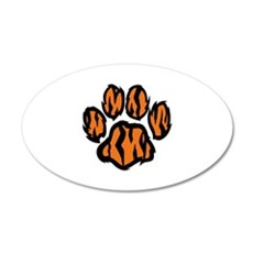 TIGER PAW PRINT Wall Decal