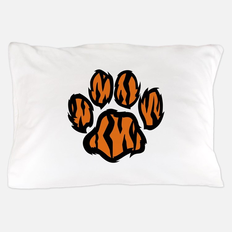 TIGER PAW PRINT Pillow Case
