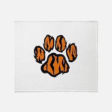 TIGER PAW PRINT Throw Blanket