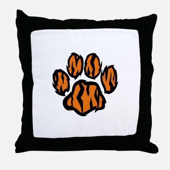 TIGER PAW PRINT Throw Pillow