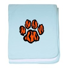 TIGER PAW PRINT baby blanket
