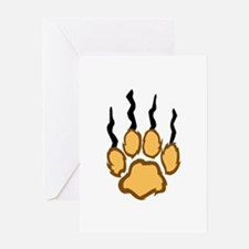 LIONS CLAW MARKS Greeting Cards