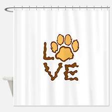 PAW PRINT LOVE Shower Curtain