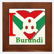 I love Burundi Framed Tile