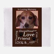 Unique Loving memory Throw Blanket