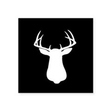 "Cute Whitetail deer Square Sticker 3"" x 3"""