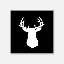 "Cute Whitetail deer Square Sticker 3"" x 3"""