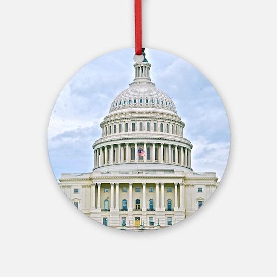 US Capitol Building Ornament (Round)