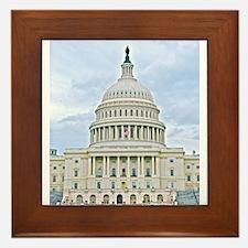 US Capitol Building Framed Tile