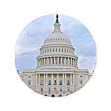 """US Capitol Building 3.5"""" Button"""