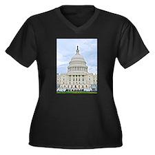 US Capitol Building Plus Size T-Shirt