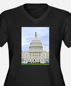 US Capitol Building Plus Size T-Shirt