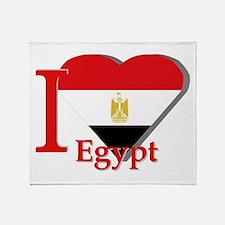 I love Egypt Throw Blanket