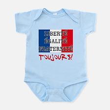 Liberte Egalite Fraternite Toujour Infant Bodysuit