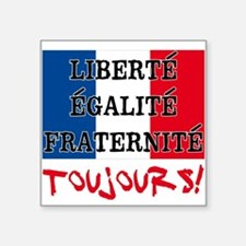 "Liberte Egalite Fraternite Square Sticker 3"" x 3"""