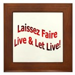 Laissez Faire Framed Tile