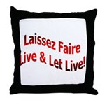 Laissez Faire Throw Pillow