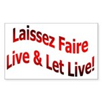 Laissez Faire Rectangle Sticker