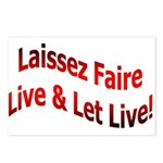 Laissez Faire Postcards (Package of 8)