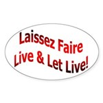 Laissez Faire Oval Sticker