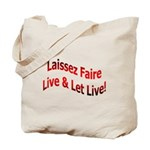 Laissez Faire Tote Bag