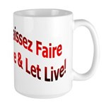 Laissez Faire Large Mug