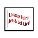 Laissez Faire Framed Panel Print