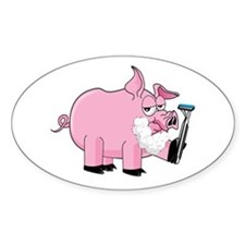 Pig Shaving Decal