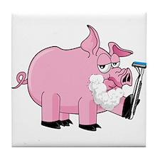 Pig Shaving Tile Coaster
