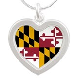 Maryland flag Heart