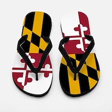 Flag of Maryland Flip Flops