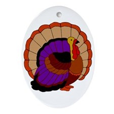 Thanksgiving Turkey Ornament (Oval)