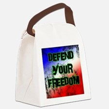Defend Your Freedom Canvas Lunch Bag