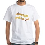 Live & Let Live White T-Shirt