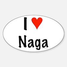 I love Naga Oval Decal