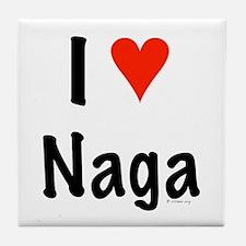 I love Naga Tile Coaster