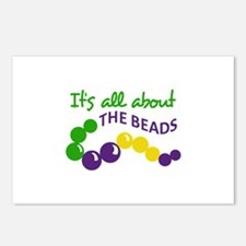 ITS ALL ABOUT THE BEADS Postcards (Package of 8)