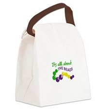 ITS ALL ABOUT THE BEADS Canvas Lunch Bag
