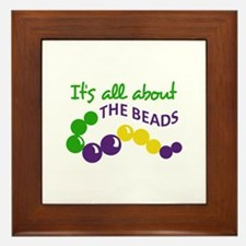 ITS ALL ABOUT THE BEADS Framed Tile