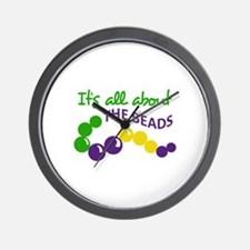 ITS ALL ABOUT THE BEADS Wall Clock