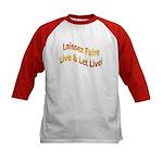 Live & Let Live Kids Baseball Jersey