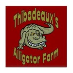 Alligator farm Tile Coaster