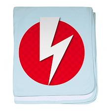 Lightning Boltz baby blanket