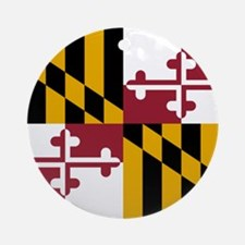 Flag of Maryland Ornament (Round)
