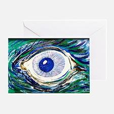 Aqua Eye by Doug LaRue Greeting Card