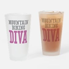 Mountain Biking DIVA Drinking Glass
