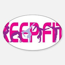 Keep Fit in Pink Decal