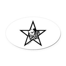 Pin Up Star Oval Car Magnet